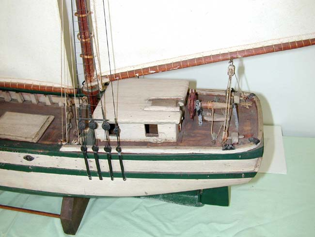 click to view larger image of 19th Century Nantucket Sailor-Made Three-Masted Pond Boat