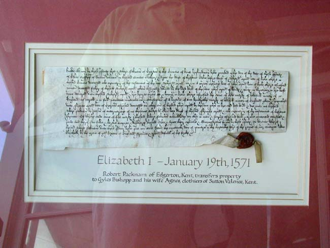 click to view larger image of A 16th century Elizabethan Period Title Deed Dated January 19, 1571
