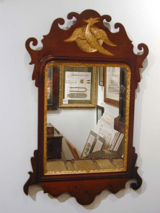 click to view larger image of A Late 18th Century American Chippendale  Parcel-Gilt Mirror - A Late 18th Century American Chippendale Parcel-Gilt Mirror With
