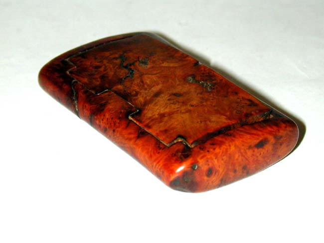 click to view larger image of An 18th Century Burled Walnut Tobacco Box