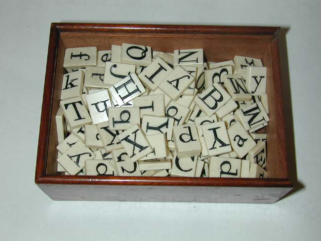 click to view larger image of The Finest 19th Century Cased Set of Ivory Alphabets on the Market today!