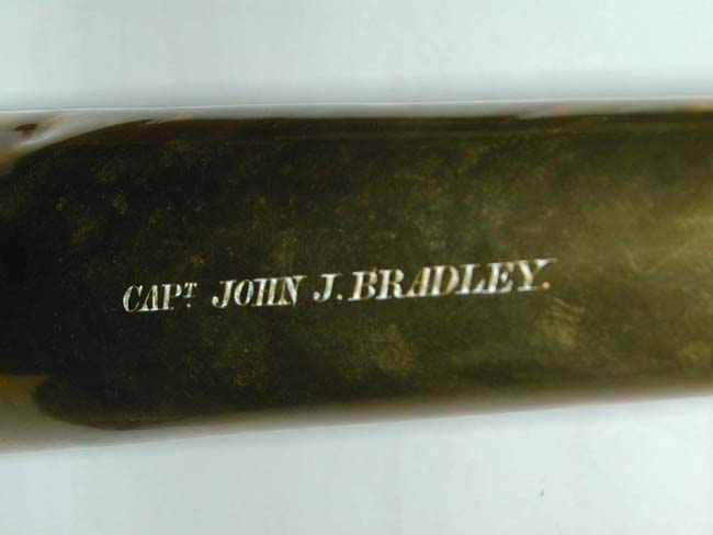 click to view larger image of A Rare 19th century Ship Captain's Speaking Trumpet Inscribed