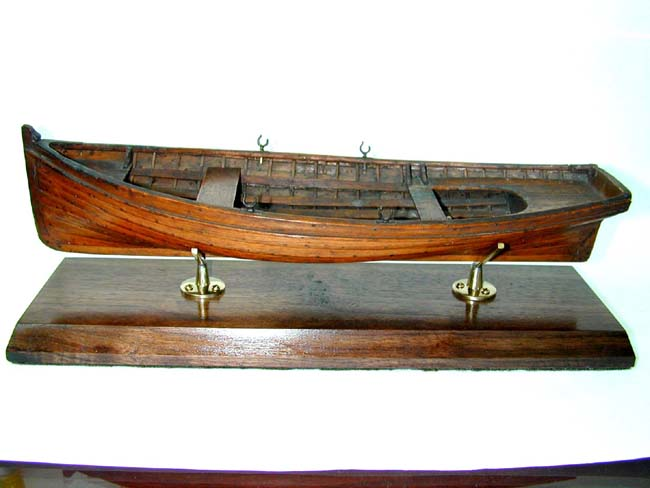 click to view larger image of An Early Builders Model of a 'Whitehall' Rowing Boat circa 1880