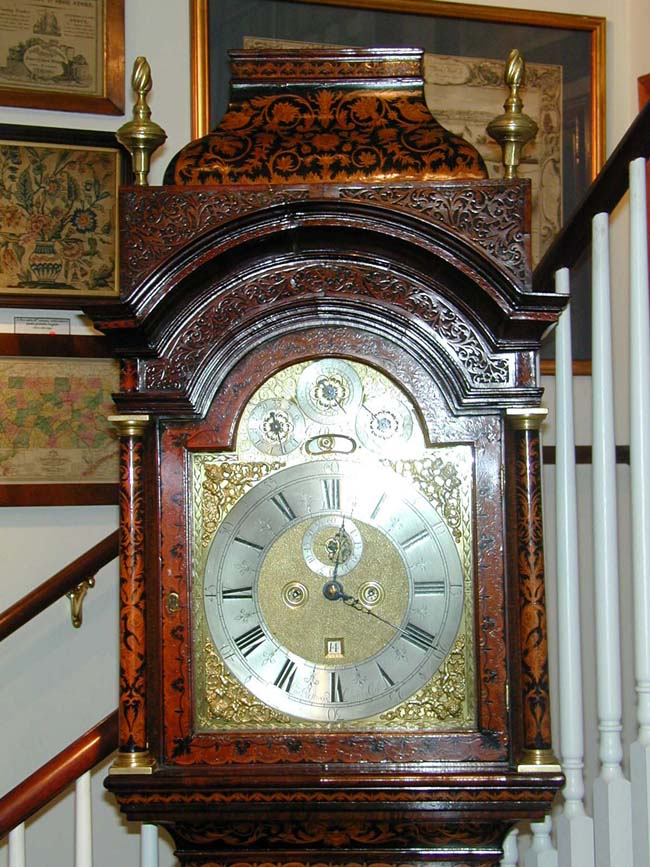 click to view larger image of Perhaps the Most Beautiful English Queen Anne Marquetry Longcase Clock circa 1710-1715 On the Market