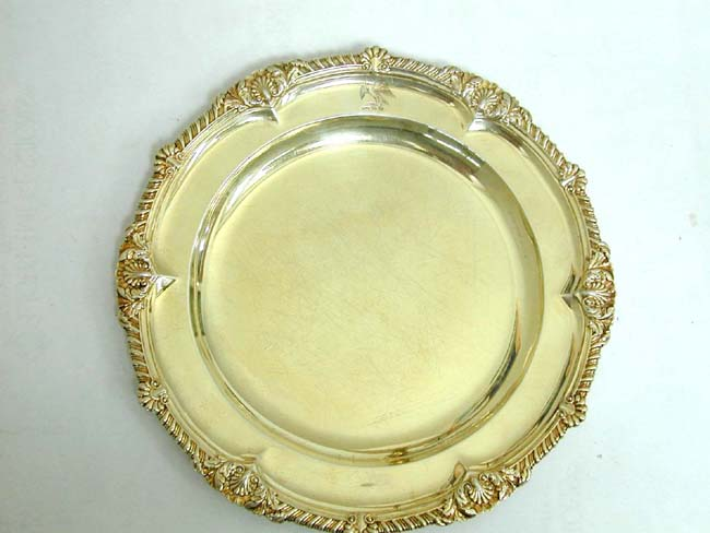 click to view larger image of A Set of Six English William IV Silver-Gilt Dinner Plates by Robert Garrard, London 1836