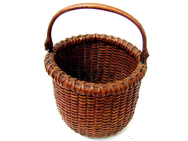 click to view larger image of A Fine Small Nantucket Basket circa 1880