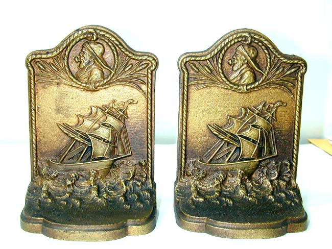 click to view larger image of A Pair of Bradley & Hubbard 'Old Sailor