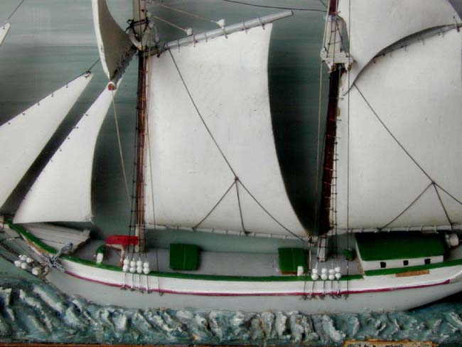 click to view larger image of A Sailor-Made Lake Michigan Schooner Model depicting the ship