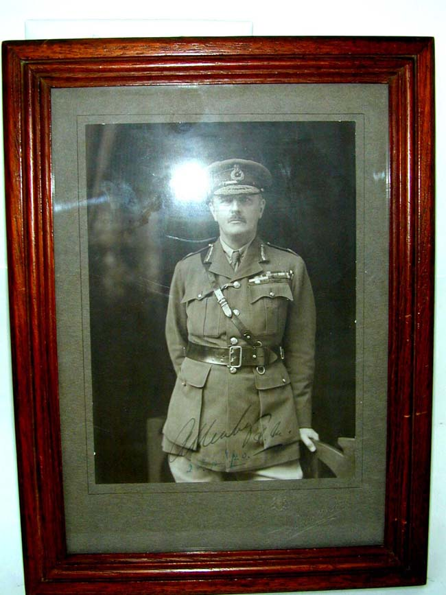 An Autographed Photo of Field Marshall Edmund Allenby, who