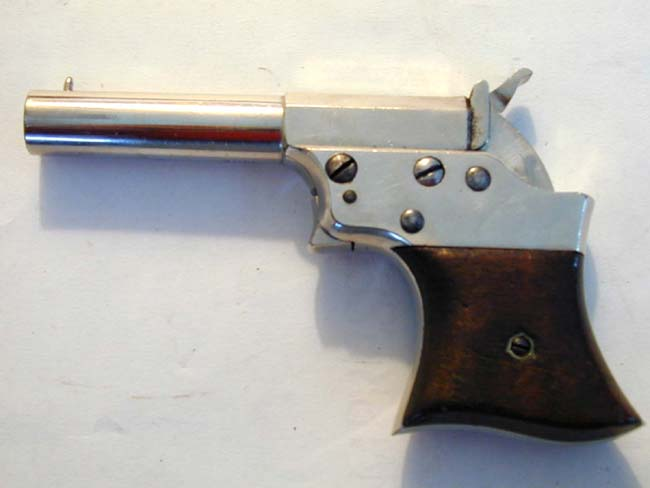 click to view larger image of A Remington Split Breech .41 cal. Single Shot DERINGER circa 1865