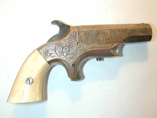 click to view larger image of A 'Southerner' (Brown Mfg. Co.) .41 cal. Single Shot DERINGER circa 1867