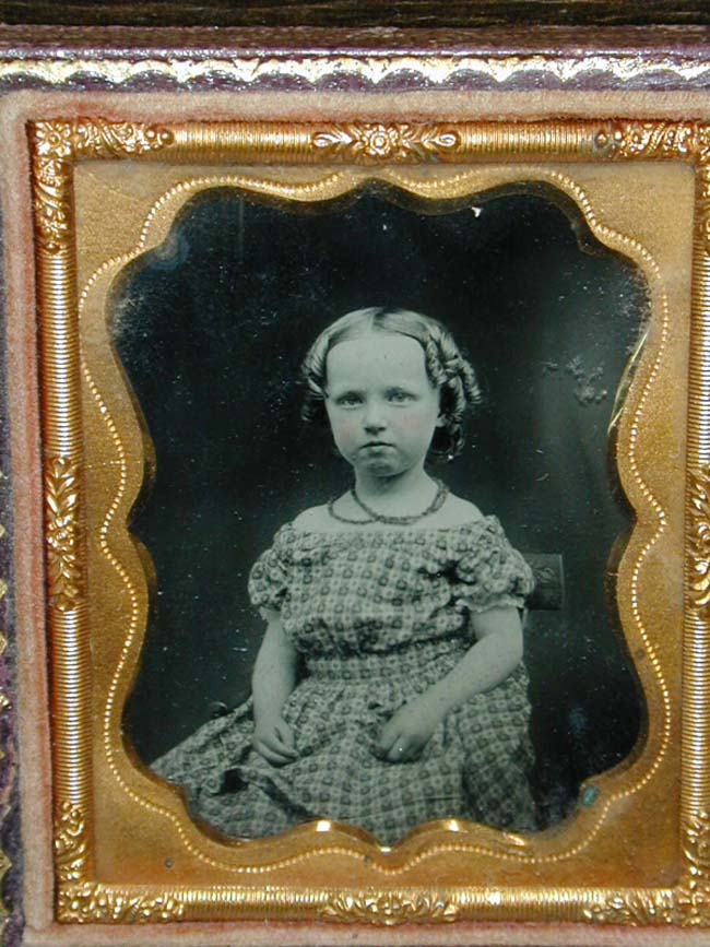 click to view larger image of A Charming mid 19th century ambrotype of a pretty young girl