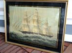 click to view detailed description of A Limited Edition print circa 1924 depicting the historic clipper ship 'WESTWARD HO' built by Donald McKay at East Boston in 1852
