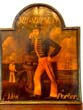 click to view detailed description of A charming 19th century Pub sign in original condition depicting a Midshipman