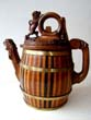 click to view detailed description of A RARE Northern European Carved Wooden Beer Jug circa 1800-1820