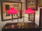 click to view detailed description of A fine late 19th century Double Student Lamp circa 1880-1900
