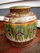 click to view detailed description of A beautiful Chinese butterfly motif ginger jar