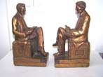 click to view detailed description of A Pair of Antique Bookends circa 1926 depicting Abraham Lincoln