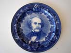 click to view detailed description of A rare Wedgwood plate circa 1895 commemorating the author Nathaniel Hawthorne