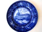 click to view detailed description of A United States Capital Building souvenir plate circa 1910 made by Royal Staffordshire