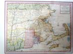 click to view detailed description of A Revolutionary War period map with original hand coloring entitled