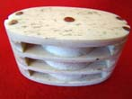 click to view detailed description of A sailor-made 19th century Whalebone triple block