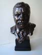 click to view detailed description of A fine bronzed bust of President Theodore Roosevelt, our 26th President from 1901-1909