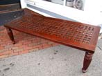click to view detailed description of A fine 19th century table or bench made from ships deck grating circa 1840
