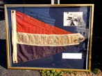 click to view detailed description of The Burgee from the 1920's speedboat MINUTE_MAN which raced on Lake Winnipesaukee, N H