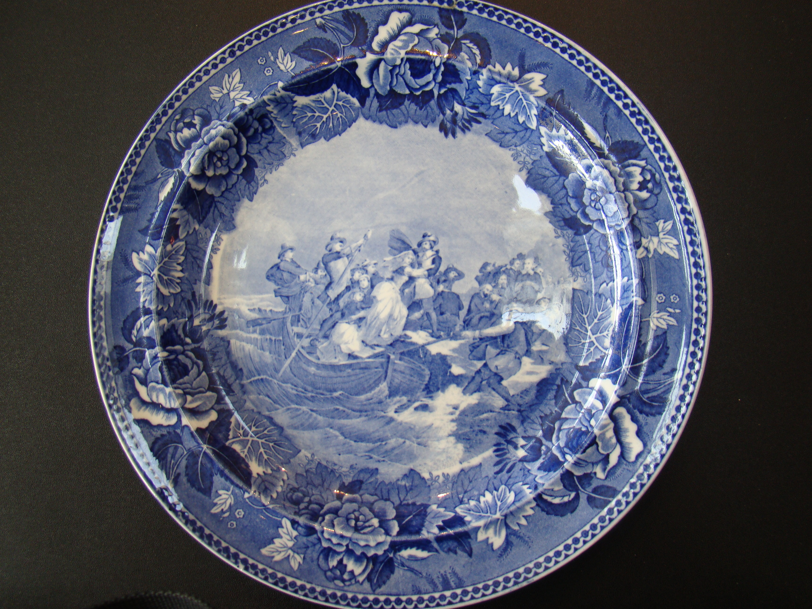 click to view detailed description of The Landing of the Pilgrims made by Wedgwood in 1899