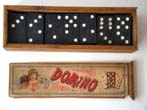 click to view detailed description of A nice set of Dominoes in their original labeled box circa 1900