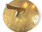 click to view detailed description of An Important engraved brass Sundial by George Adams, Maker to His Royal Highness, circa 1760.