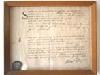 click to view detailed description of An 18th century Bill of Lading for the Sloop Conway loaded with silver coins dated July 11, 1768