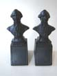 click to view detailed description of A pair of George Washington bookends circa 1930