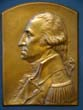 click to view detailed description of A fine vintage bronze plaque depicting George Washington sculpted by Luini Costanzo circa 1920