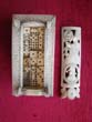 click to view detailed description of One of the finest Napoleonic Prisoner-of-War bone game boxes (circa 1810) in existence