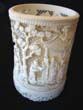 click to view detailed description of An amazing 19th century Chinese carved elephant ivory cup.
