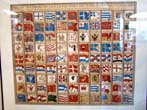 click to view detailed description of Maritime Flags of the World printed by Nicholas Bellin, Engraver to the King, Paris1756