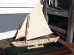 click to view detailed description of A Highly detailed Whalebone model made in the Azores of a 19th century Whale Boat