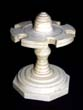 click to view detailed description of Extremely RARE heavy whalebone Log Book Stamp holder circa 1850.