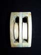 click to view detailed description of A 19th century Sailor-made ANTIQUE Whalebone Double Ships Block