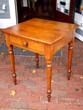 click to view detailed description of An antique Cherry one-drawer nightstand-work table circa 1850