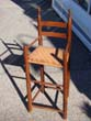 click to view detailed description of An 18th century New England childs high chair