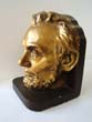 click to view detailed description of A single Abraham Lincoln bookend circa 1950