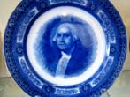 click to view detailed description of A George Washington commemorative plate made by Royal Doulton circa 1900