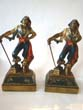 click to view detailed description of A nice pair of vintage 'Swashbuckler' bookends circa 1928