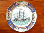 click to view detailed description of A fine Limited Edition plate produced in 1974 depicting the 'Friendship of Salem' commissioned by the Peabody Museum of Salem.