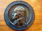 click to view detailed description of A deeply patinated brass plaque commemorating the Bicentennial of George Washington's birth 1732-1932