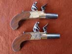 click to view detailed description of A nice pair of SCOTTISH flintlock pocket pistols by Henderson of Paisley circa 1790-1800