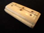 click to view detailed description of A 19th century sailor-made bone snuffbox inscribed